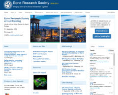 Bone Research Society screenshot